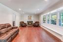 formal living room with fireplace - 2808 VILLAGE LN, SILVER SPRING