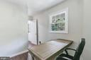Den/office with exit to backyard and garage - 2808 VILLAGE LN, SILVER SPRING