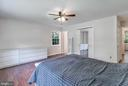 Master suite with ceiling fan - 2808 VILLAGE LN, SILVER SPRING