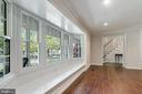 Large bay window in living room off foyer - 2808 VILLAGE LN, SILVER SPRING