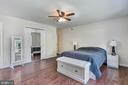 Master suite with two closets - 2808 VILLAGE LN, SILVER SPRING