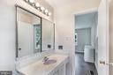 Renovated full hall bath on main level - 2808 VILLAGE LN, SILVER SPRING