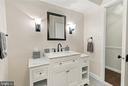 Renovated full bath on main levlel - 2808 VILLAGE LN, SILVER SPRING