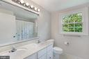 Upper hall full bath - 2808 VILLAGE LN, SILVER SPRING