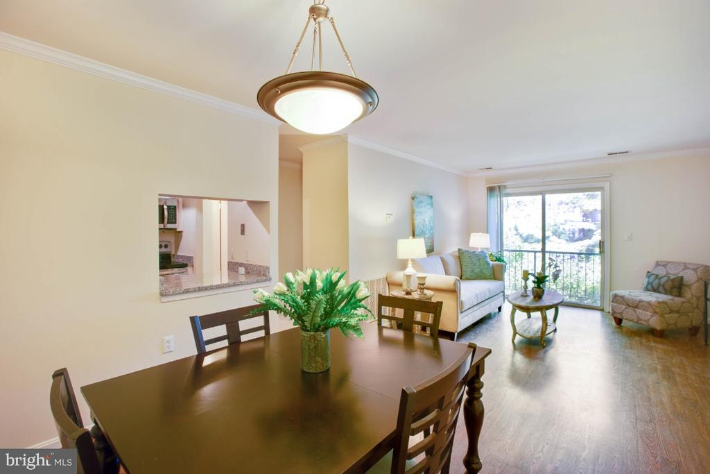 Dining Room with View Towards Living Room - 8203 WHISPERING OAKS WAY #202, GAITHERSBURG
