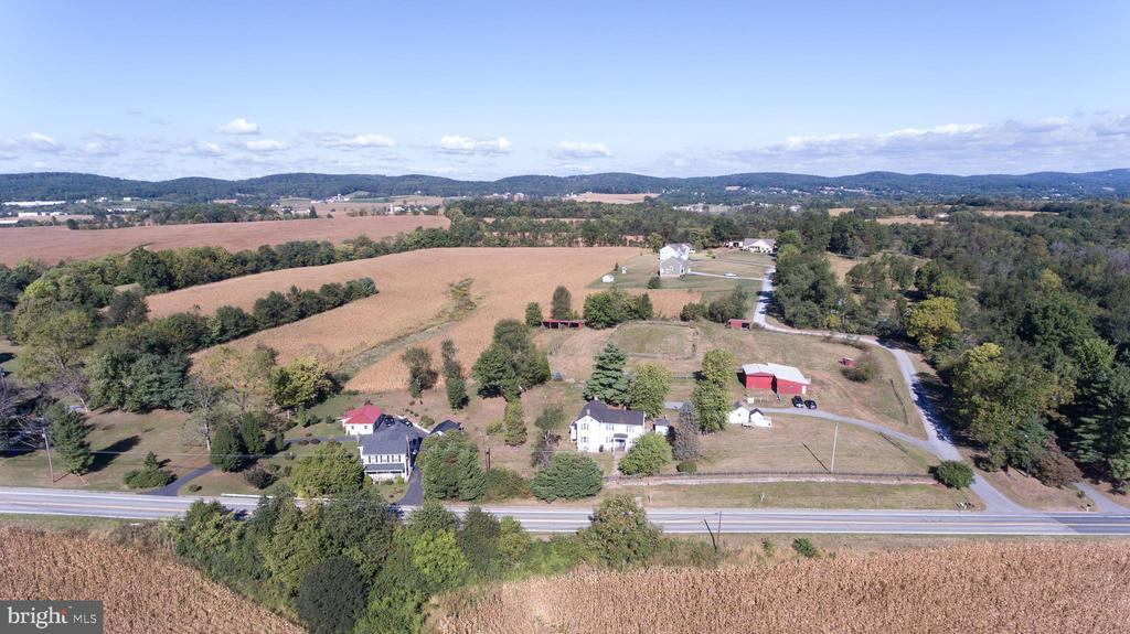 Aerial View of the property - 4026 BALLENGER CREEK PIKE, FREDERICK