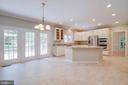 Brand new kitchen with large island - 6541 JEROME CT, MANASSAS