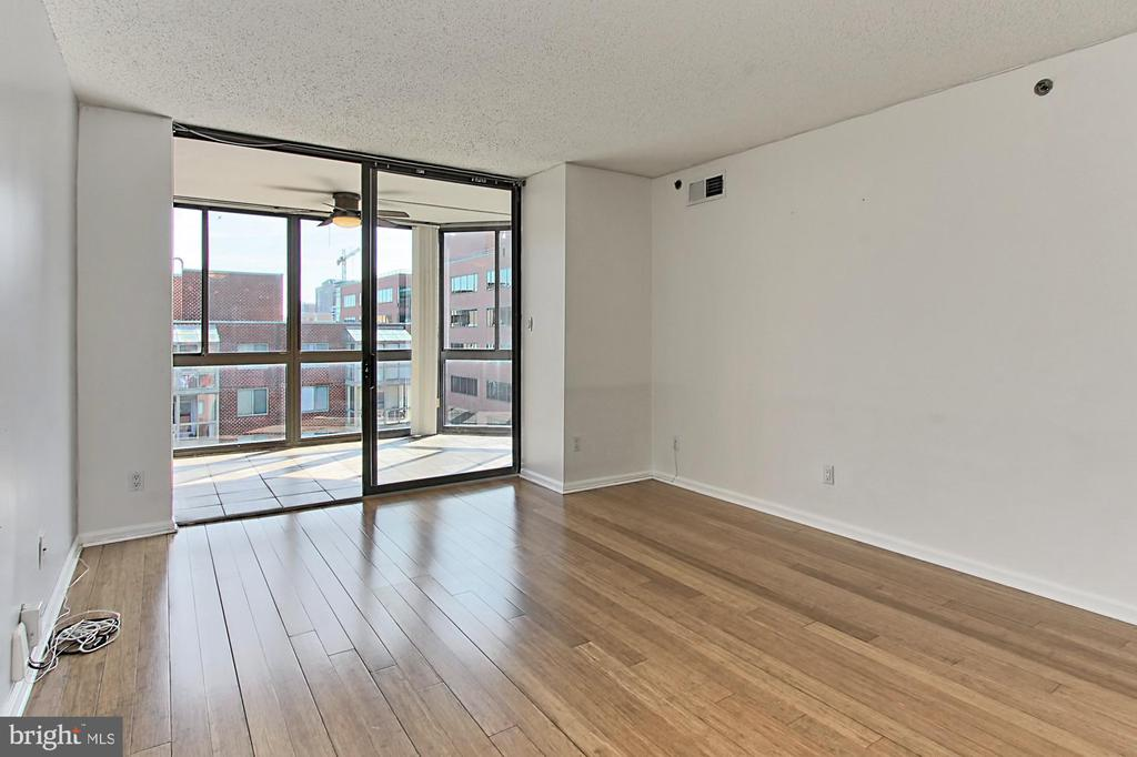 Living room doors to the sunroom - 1024 N UTAH ST #816, ARLINGTON