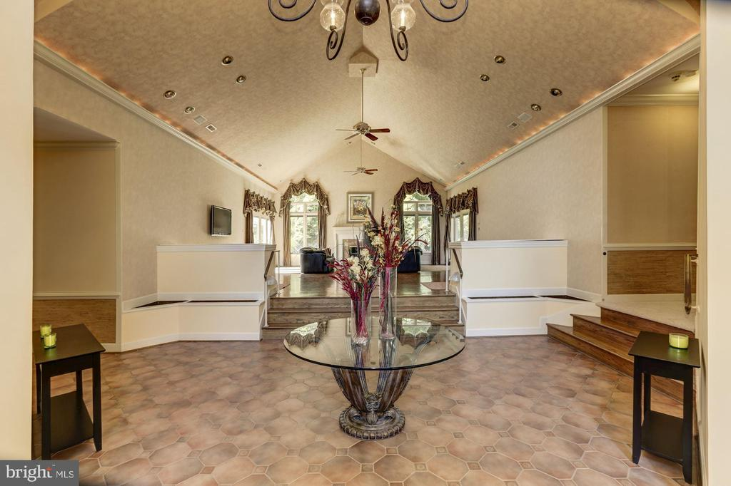 Grand foyer to living room - 7115 WOLF DEN RD, FAIRFAX STATION