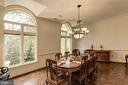 Formal dining room - 7115 WOLF DEN RD, FAIRFAX STATION