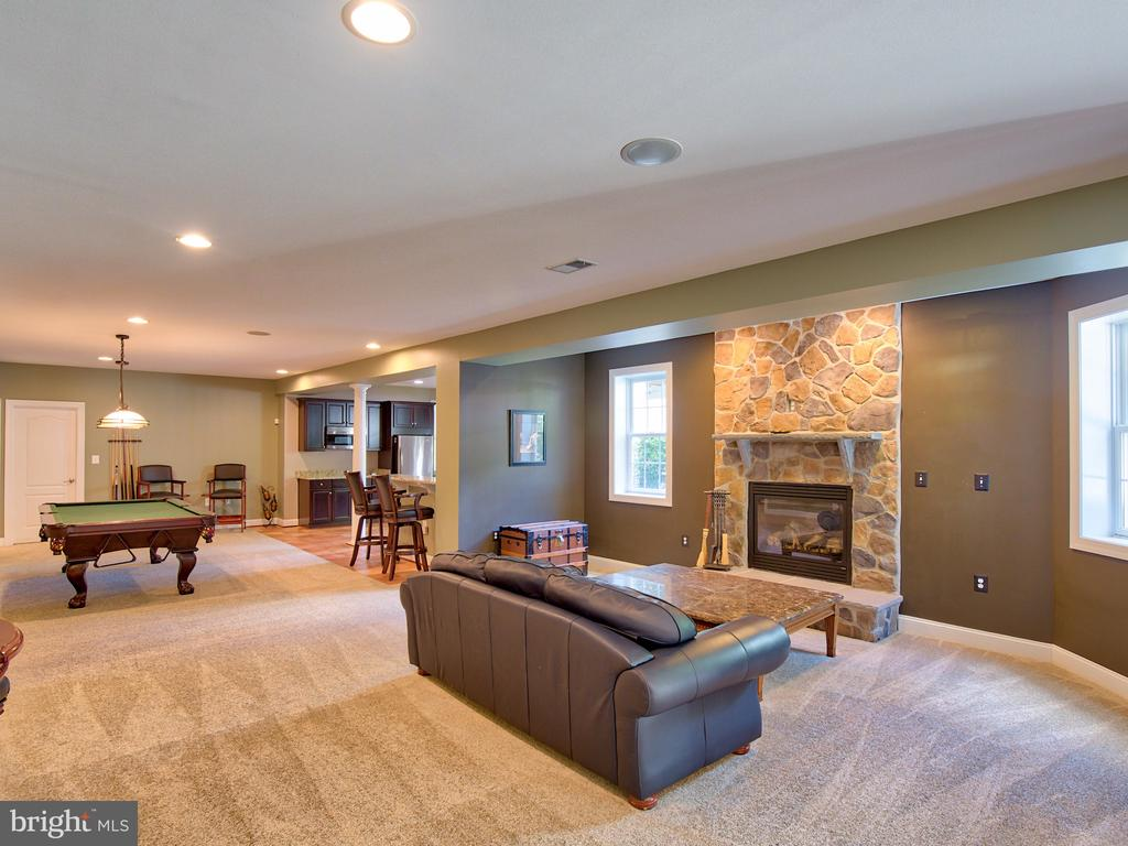Great Room in Lower Level - 23429 ROUNDUP PL, ALDIE