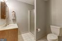 Private bath in sixth bedroom suite - 7115 WOLF DEN RD, FAIRFAX STATION