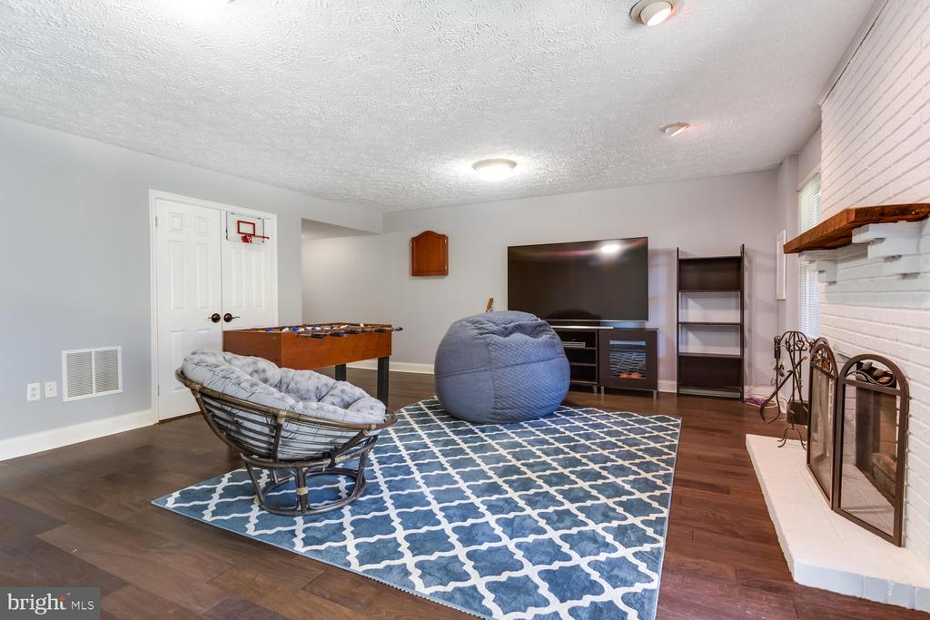 Family Room with Wood Burning Fireplace - 2859 YARN CT, FALLS CHURCH