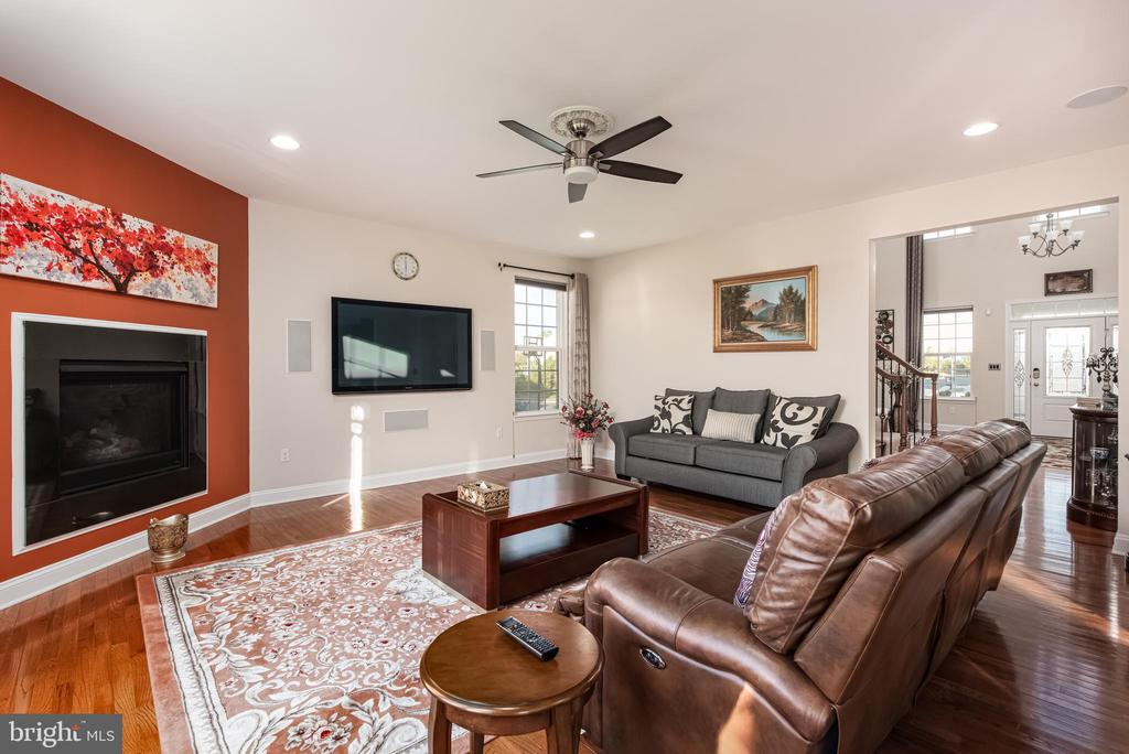 Family Room with view of the Fireplace - 22849 EMERALD CHASE PL, ASHBURN