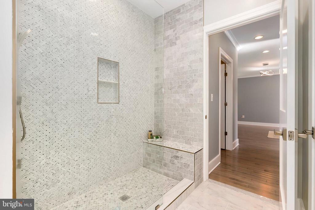 Incredible tile work MBA shower - 1349 GORDON LN, MCLEAN