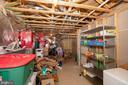 Unfinsihed storage room - 112 REGENTS LN, STAFFORD