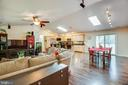 Open Concept Living/Dining/Kitchen - 10288 MONCURE DR, RUTHER GLEN