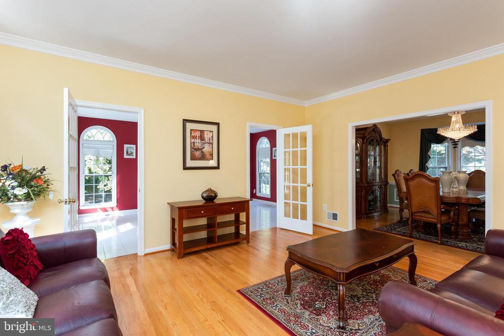 Living Room with Sunroom & Dining Room - 8308 ARMETALE LN, FAIRFAX STATION