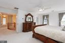 Master Bedroom - Double door entry - 8308 ARMETALE LN, FAIRFAX STATION