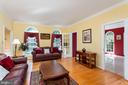 Living Room with adjoining Sunroom - 8308 ARMETALE LN, FAIRFAX STATION