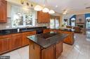 Kitchen - Granite Counters, Tile Backsplash - 8308 ARMETALE LN, FAIRFAX STATION