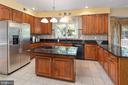 Kitchen - Modern Appliances & Cooking Island - 8308 ARMETALE LN, FAIRFAX STATION