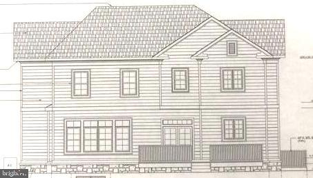 Rear view of actual house drawing - 706 KINGSLEY RD SW, VIENNA