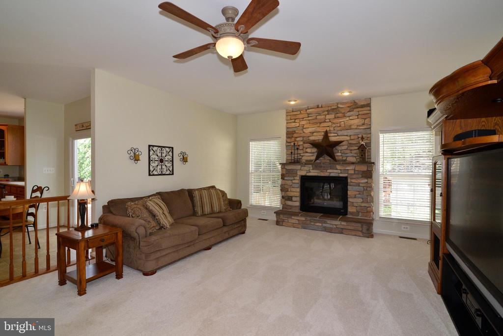 Stone Fireplace - 245 E SKYLINE DR, PURCELLVILLE