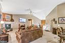 Overviw of Family Room with vaulted ceiling - 8 ONTELL CT, STAFFORD