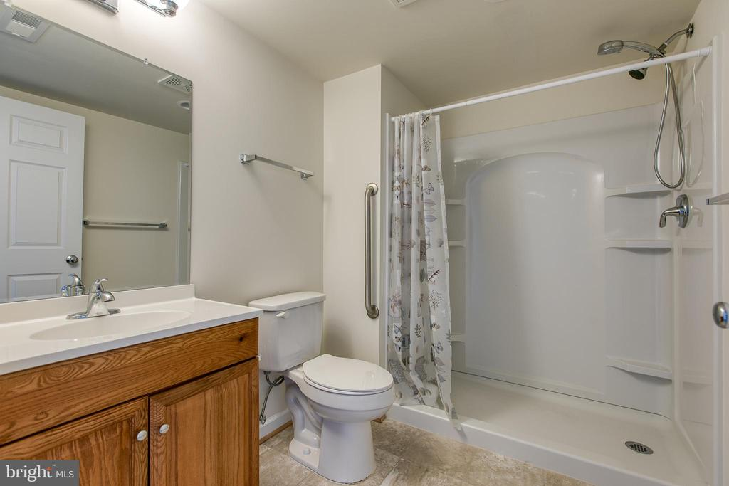 Full bath with walk in shower in basement - 220 LONG POINT DR, FREDERICKSBURG