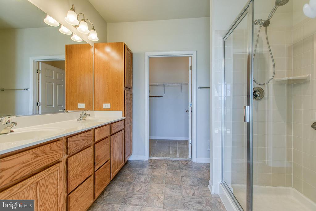 Large bath with walk in shower and double vanity - 220 LONG POINT DR, FREDERICKSBURG