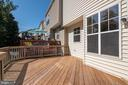 Large deck on back of house - 3968 HARTLAKE ST, WOODBRIDGE