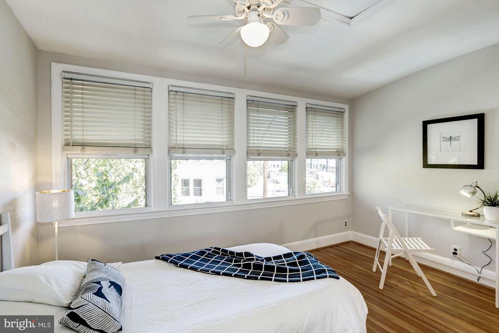 Back Bedroom with a Bank of Bright Windows! - 1828 POTOMAC AVE SE, WASHINGTON