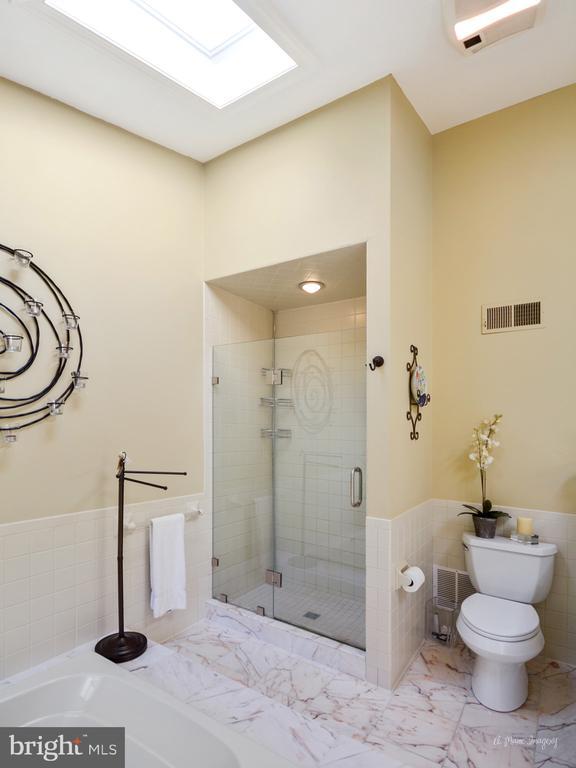 Separate shower with new glass doors - 5223 FAIRGREENE WAY, IJAMSVILLE