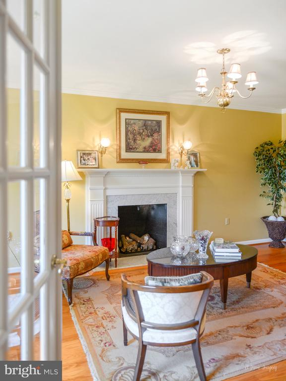 French doors in living room - 5223 FAIRGREENE WAY, IJAMSVILLE