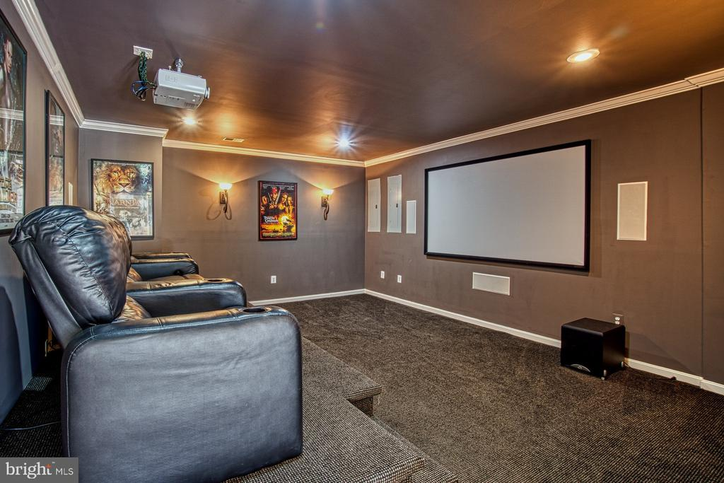 Custom Media Room is Fantastic - 42763 FOREST CREST CT, ASHBURN