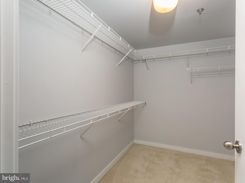 Master bedroom, walk-in closet - 3883 CONNECTICUT AVE NW #707, WASHINGTON