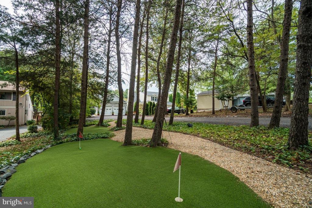 Front yard putting green - 126 HARRISON CIR, LOCUST GROVE
