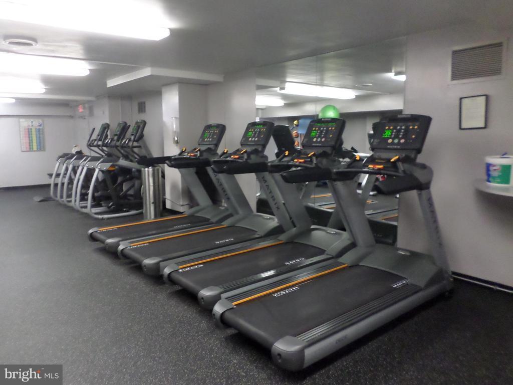 Treadmills in exercise-room - 2939 VAN NESS ST NW #726, WASHINGTON
