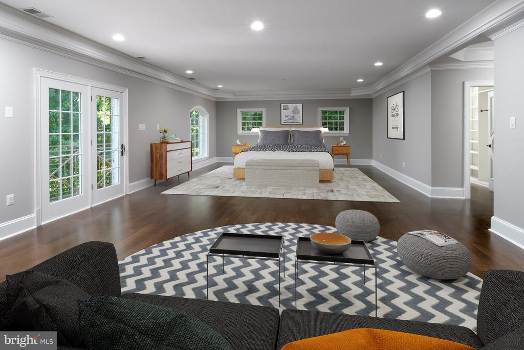 virtual staging  for master bedroom - 8746 BROOK RD, MCLEAN