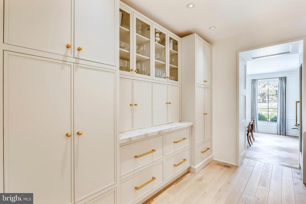 bi-fold doors to coffee station. pull out shelves - 6404 GARNETT DR, CHEVY CHASE