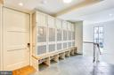 enclosed cubbies w/ individual power - 6404 GARNETT DR, CHEVY CHASE