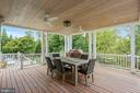 18x18 covered terrace off kitchen & mudroom - 6404 GARNETT DR, CHEVY CHASE