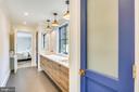 buddy bathroom w/ dual linens - 6404 GARNETT DR, CHEVY CHASE