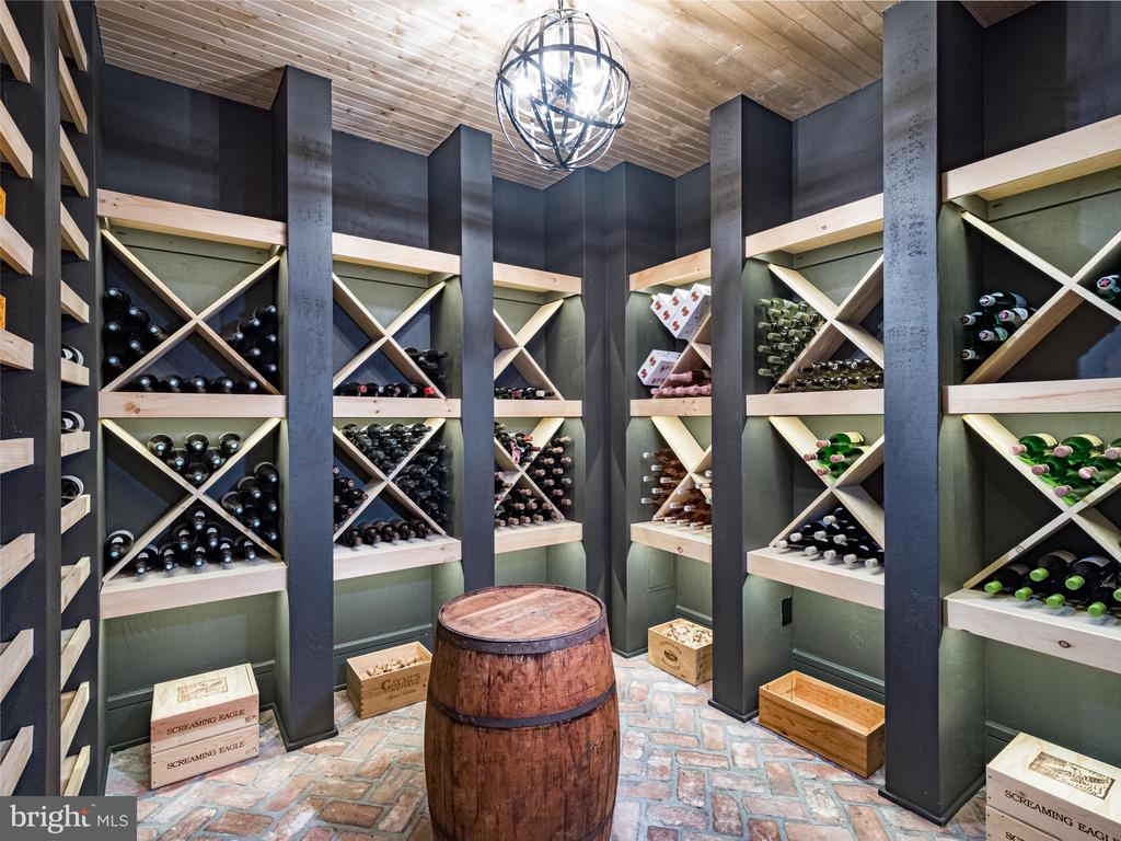 climate controlled wine cellar - 6404 GARNETT DR, CHEVY CHASE