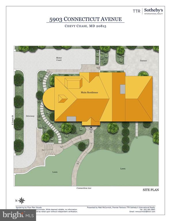 Site Plan - 5903 CONNECTICUT AVE, CHEVY CHASE