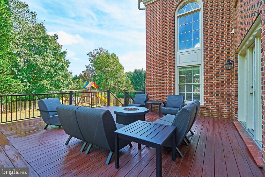 Deck has Stairways on Each Side to Rear Yard - 1607 FIELDING LEWIS WAY, MCLEAN