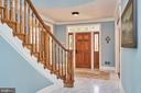 Grand Entry Marble Floored Foyer - 1607 FIELDING LEWIS WAY, MCLEAN