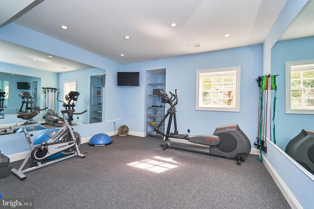 Lower Level Exercise Room or Bedroom - 1607 FIELDING LEWIS WAY, MCLEAN