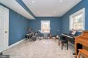 Lower Level Music Room or Bedroom - 1607 FIELDING LEWIS WAY, MCLEAN